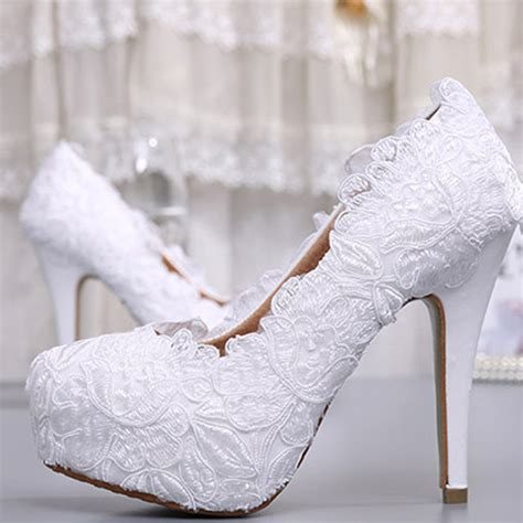 white lace high heels buy fashion white lace high heel wedding