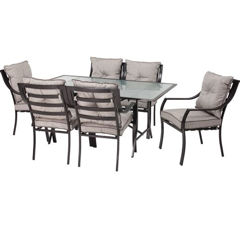 7 outdoor patio furniture metal dining set with