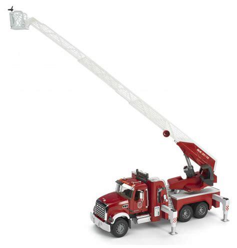 bruder fire truck bruder toys mack granite fire engine