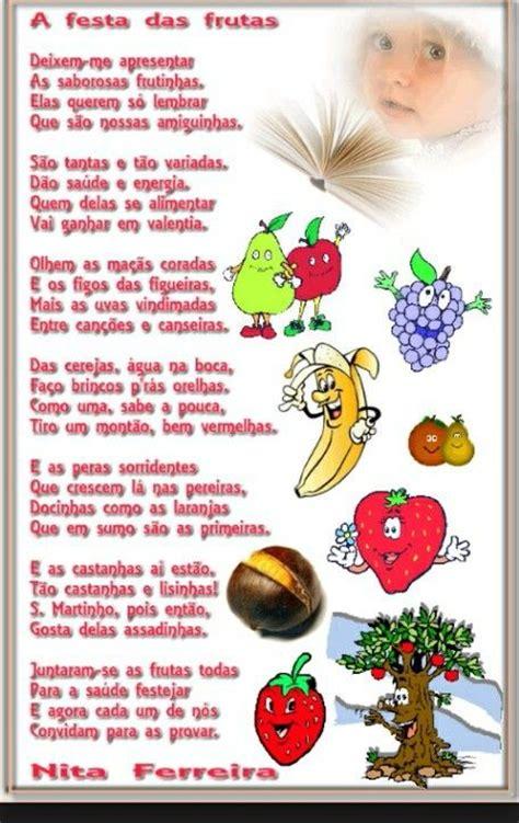 poesia de verduras frutas lengalengas poemas pinterest