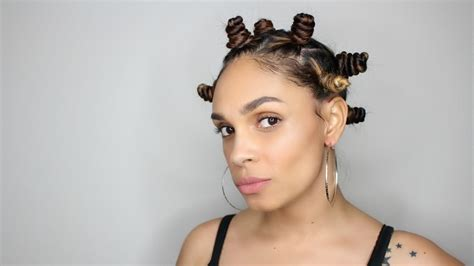 bantu knots with added hair natural hair bantu knots on straight hair youtube