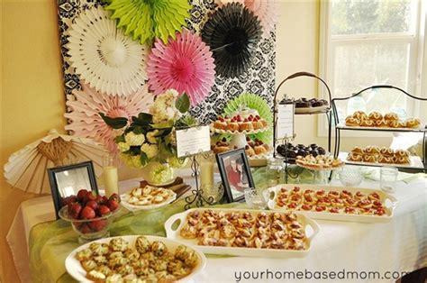 food menus for bridal showers bridal shower