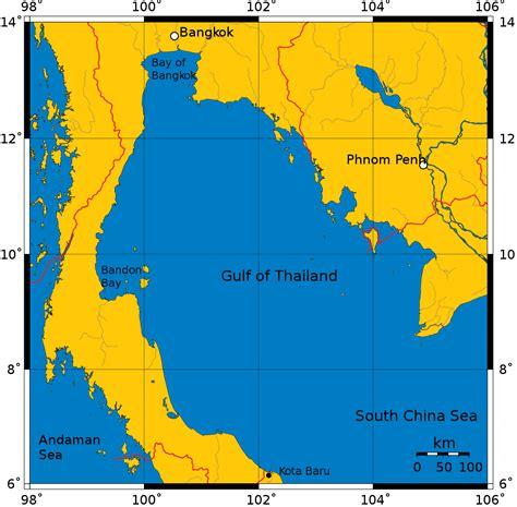 gulf map gulf of thailand