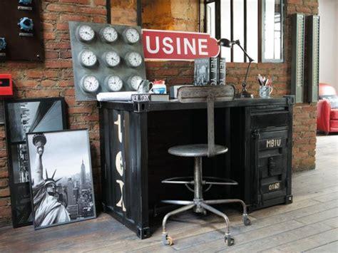 bureau industriel maison du monde dix bureaux dix ambiances page 11
