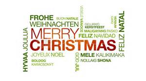 merry christmas in different languages stock video