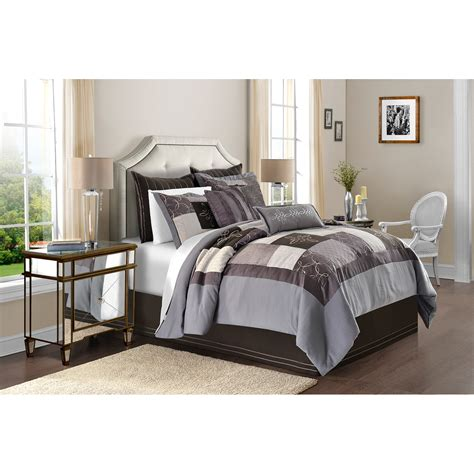 solid comforter sets solid pleated bedding comforter set walmart