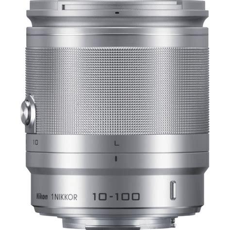 Nikon 1 Nikkor Vr 10 100mm F 4 5 5 6 Lensa Kamera Silver 1 used nikon 1 nikkor 10 100mm f 4 0 5 6 vr lens silver 3328 b h