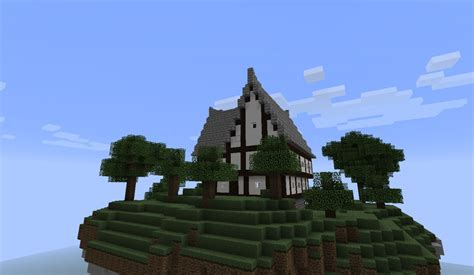 minecraft island house floating island with a house minecraft project