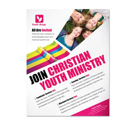 Church Ministry Youth Group Flyer Template Youth Flyer Template Free
