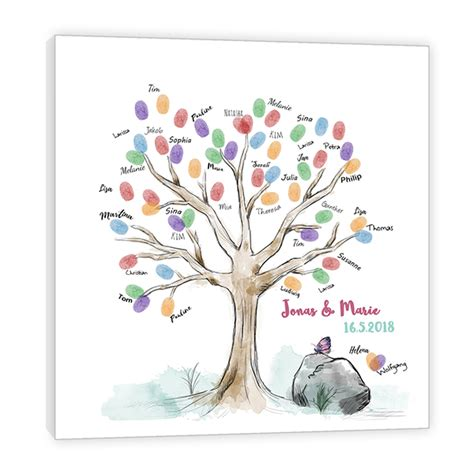 fingerabdruck baum fruehling wedding tree als