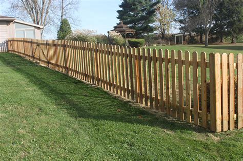 picket fences strauss fence company cedar wood picket fence