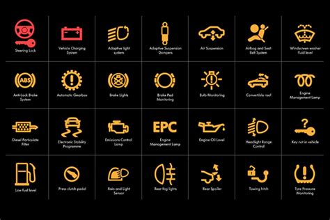 vehicle warning lights car dashboard light symbols impremedia