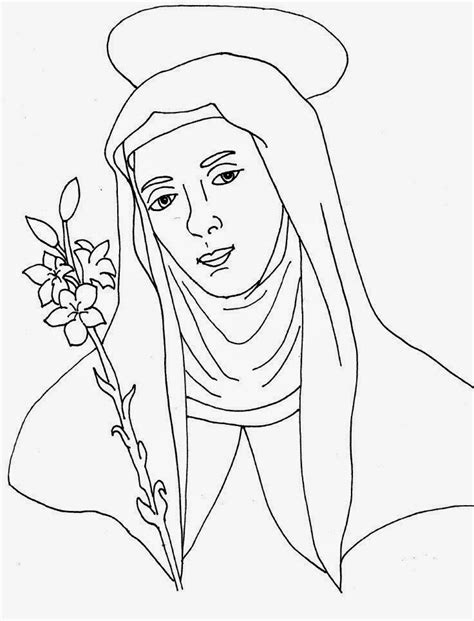 St Catherine Of Siena Coloring Page are we there yet feast of st catherine of siena