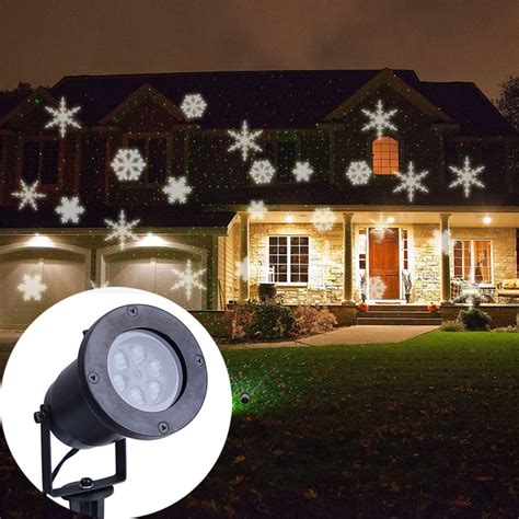 led lights for home decoration aliexpress com buy white snowflake projector waterproof