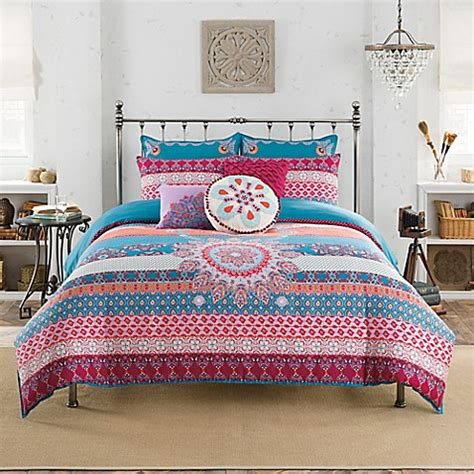 anthology amsterdam reversible comforter set bed bath