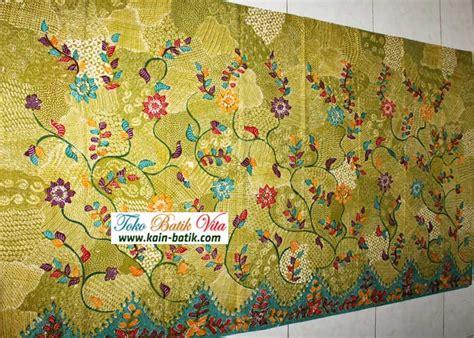 Kain Batik Print Halus 12 batik motif sekar jagad hijau halus lembut kain batik murah