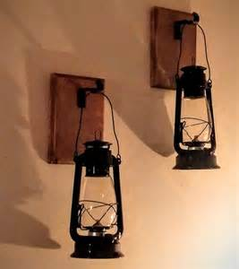 rustic lantern wall sconce lantern sconce set 2 rustic wood iron hooks by recycledrevival