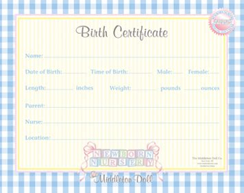 baby doll birth certificate template moved permanently