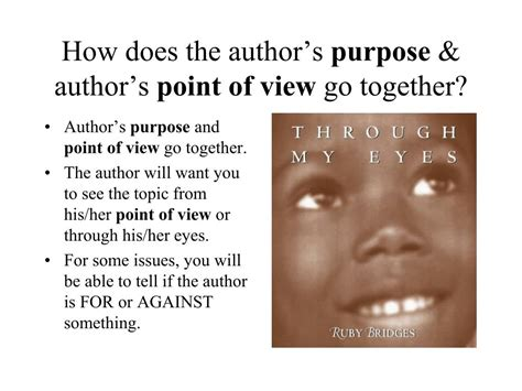 to to the point books ppt author s purpose and point of view powerpoint