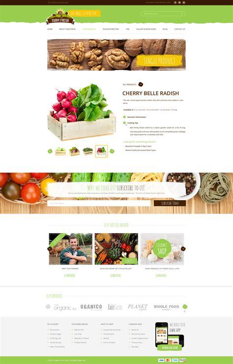 themeforest organic farm fresh organic products html template by