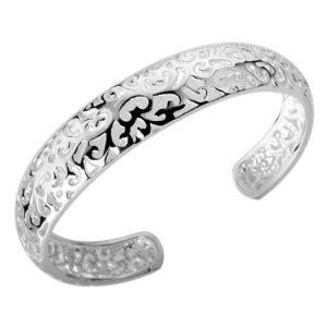 Liontin Bunga Cantik Perak 925 Lapis Emas Putih 18k info pernak pernik gelang perak bangle ukir