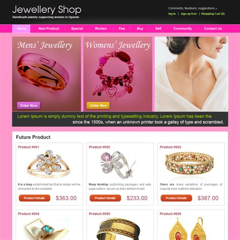 Creative Best Website Template Psd For Sale To Create Your Website Page 3 Jewelry Store Website Template