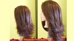hair styles cut hair in layers and make curls or flicks long bob haircut tutorial step by step long layered