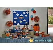 De Madre A Hija Mesa Dulces Azul Y Naranja Cumplea&241os Aviones