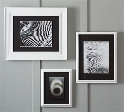 black picture frames with white matting studio dcor pre cut signature mat tens ones mat craig