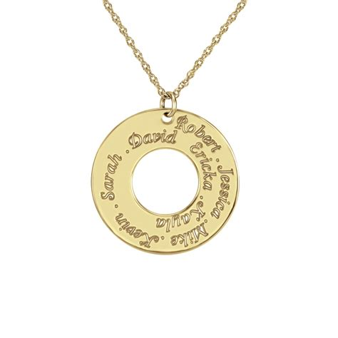 circle family name pendant 30mm personalized jewelry