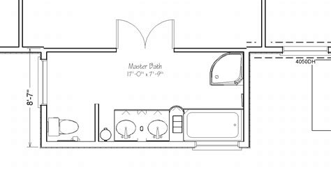 Master Bathroom Layout Master Bath Suite Addition 17 By 8 Extensions Simply Additions