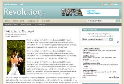 revolution church and lifestyle blogger templatestechknowl