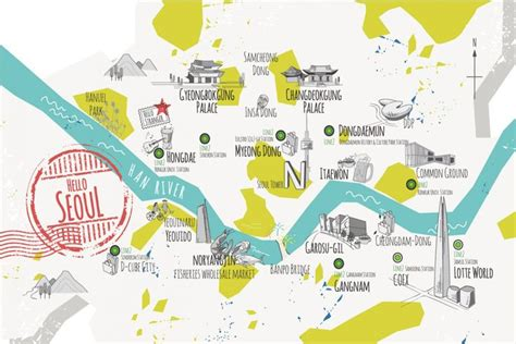 kngo3 2 jpg map pinterest map design graphics and seoul map graphic design about seoul city tour map for
