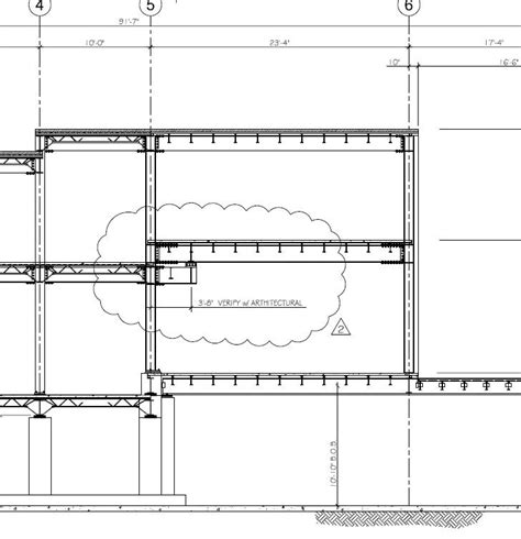 constructing a cross section as engineering services residential projects