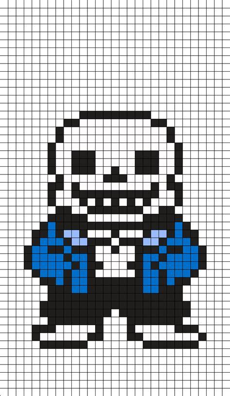 grid pattern on skin sans undertale perler bead pattern bead patterns