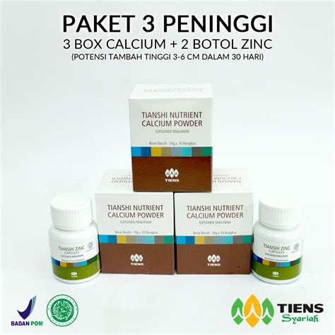 Paket 2 Peninggi Badan Tiens 2 Box Calcium Kalsium Nhcp 1 Zinc distributor resmi agen tiens indonesia peninggi badan