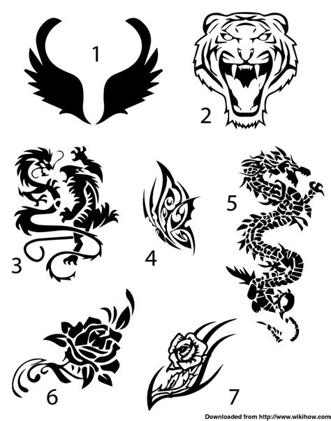 easy temporary tattoo draw your design on a piece of