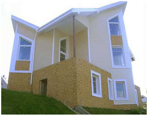 Contemporary House Siding Colorful Vinyl Siding Improving Curb Appeal Of Modern