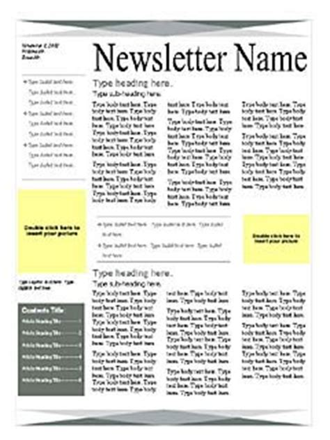 Newsletter Templates Free Microsoft Word Templates Free Microsoft Word Templates One Page Newsletter Template