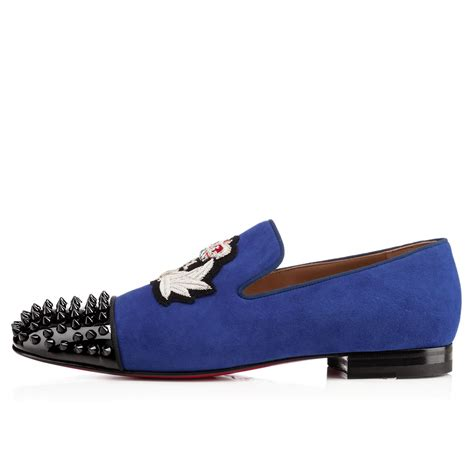 suede loafers for cheap cheap christian louboutin harvanana back spikes suede mens