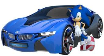 sonic the hedgehog with car 3d by fentonxd on deviantart