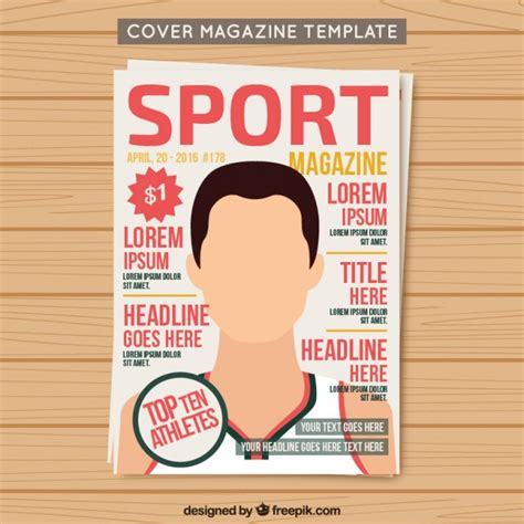 cover sport magazine template vector free download