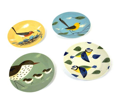 Set Biry birdy set of 4 plates 7 5 by magpie ebay