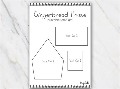 Template For Gingerbread House by Gingerbread House Templates For Free Temploola