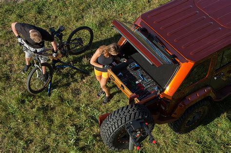 jeep wrangler mountain bike project trail seeker transforms a jeep wrangler into the