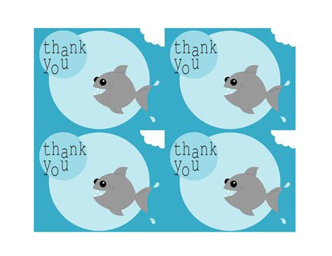 illustrator template thank you card tricia rennea illustrator free printable shark thank you
