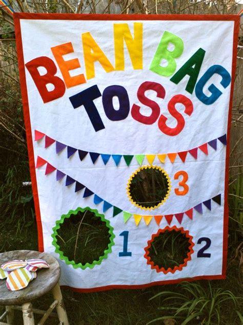 childs bean bag toss bean bag toss with bean bags rainbow theme