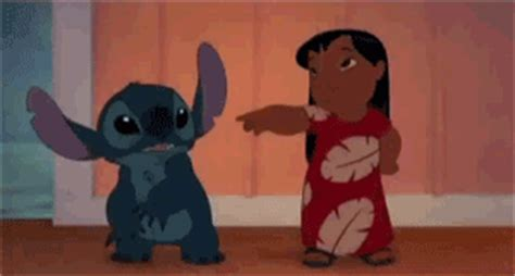 touching lilo and stitch gif find share on giphy stitch animated gif