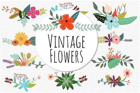 theme line vintage flower free vintage vector flowers illustrations creative market