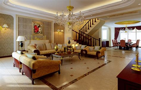 Golden design for luxury villa interior 3d house free 3d house pictures and wallpaper